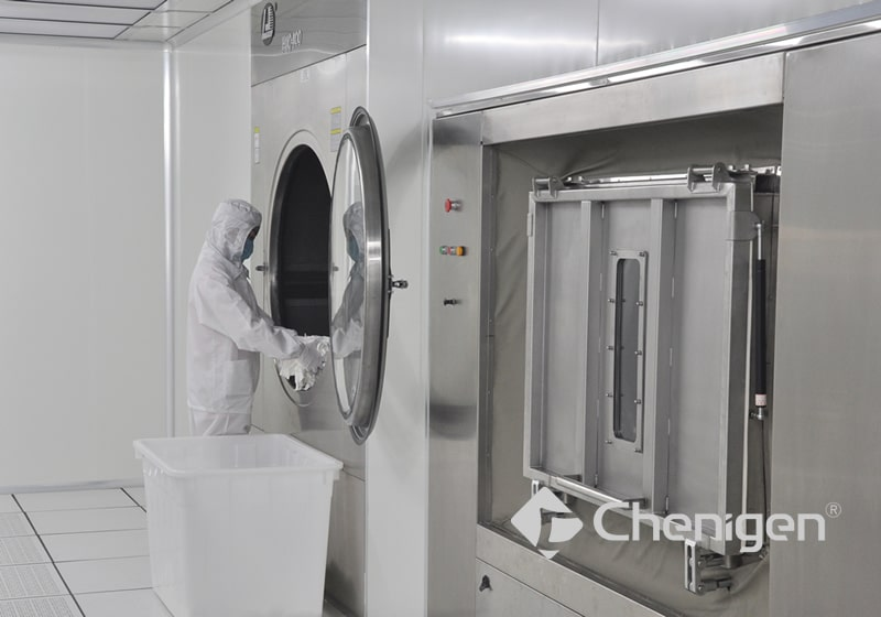 Class 10 Isolated Laundry Equipment for Cleanroom Wipers